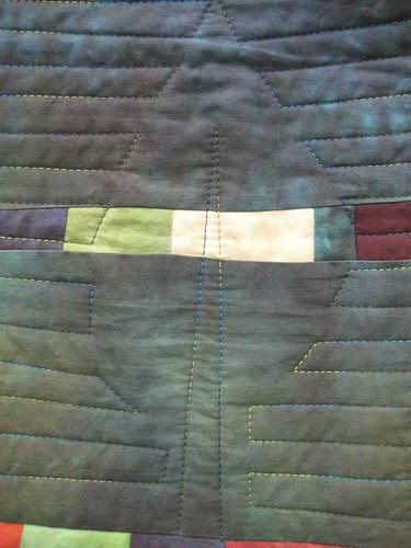 Autmn dyes quilted leaf