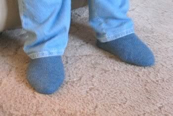 Mom's Felted Slippers