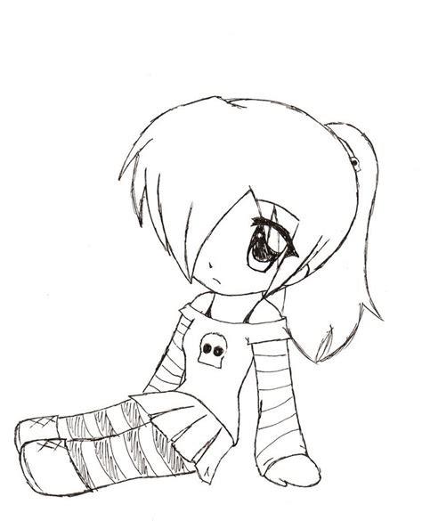 cute chibi girl easy drawings anime cute animal