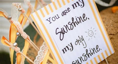 Kara's Party Ideas You Are My Sunshine Planning Party