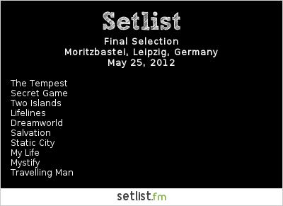 Final Selection Setlist Wave Gotik Treffen 2012 2012