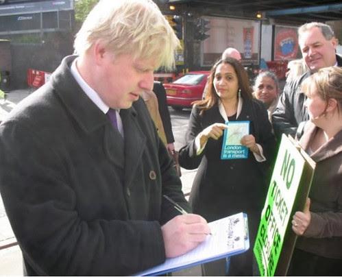 Boris signing petition against ticket office closures