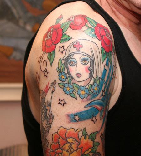Right Upper Arm Tatttoos by Tattoo Tom