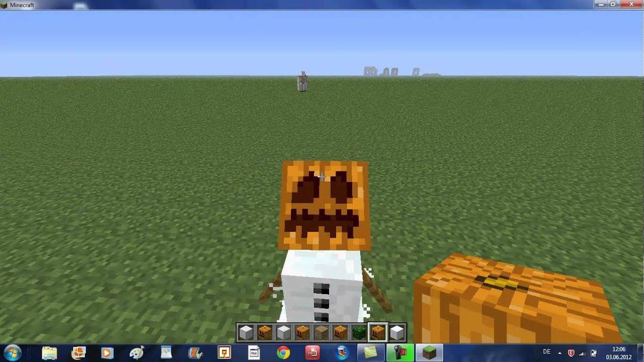 Minecraft wie baut man eine Schneemann - YouTube