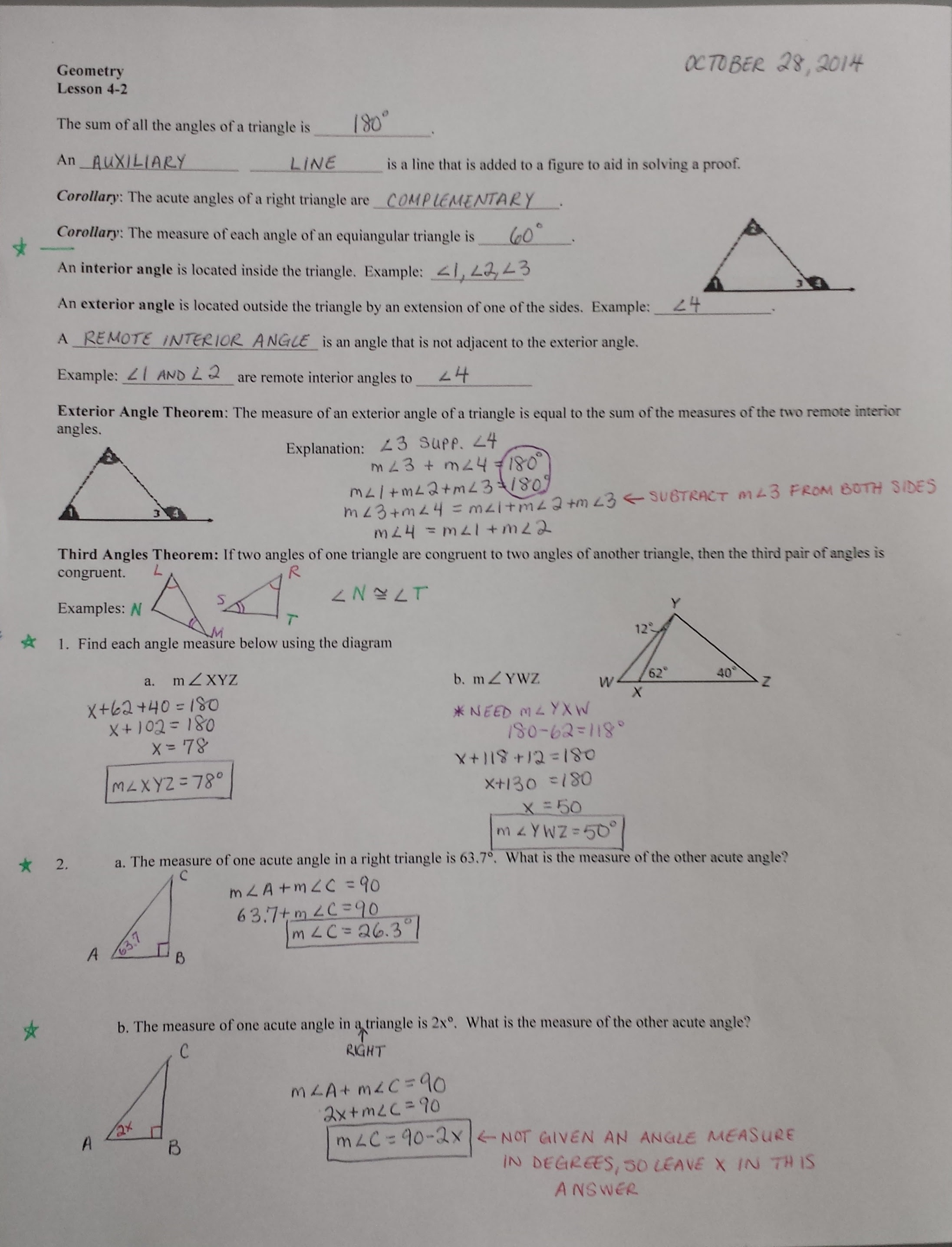 Practice 4 4 Using Congruent Triangles Cpctc Worksheet Answers  4 cpctc using corresponding
