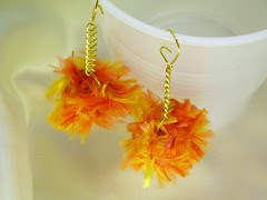 Tweety Bird Boa Earrings