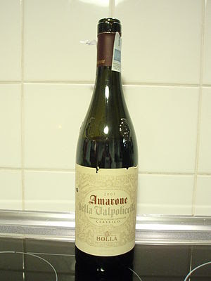 A bottle of the Italian wine Amarone from the ...