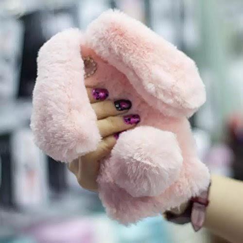 Peluche Cover per iPhone 5 5S Aearl TPU Morbido Pelosa Coniglietto ...