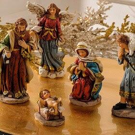 Set de 5 figuras de belén de 12,5cm