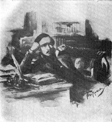 М. Ю. Лермонтов. Художник Л. О. Пастернак. Сепия. 1891