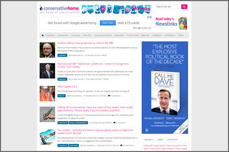 Vuelio Blog Rankings Conservative Home