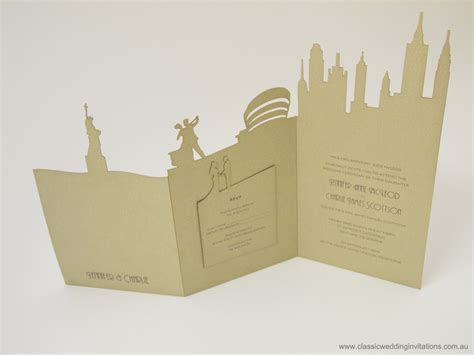 Classic Wedding Invitations   New York Landscape