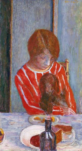 stilllifequickheart:  Pierre Bonnard Woman with Dog  1922