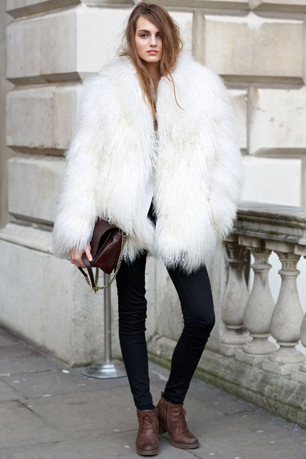 We can't ever resist a fluffy coat? #shagfur #backtofall #streetstyle