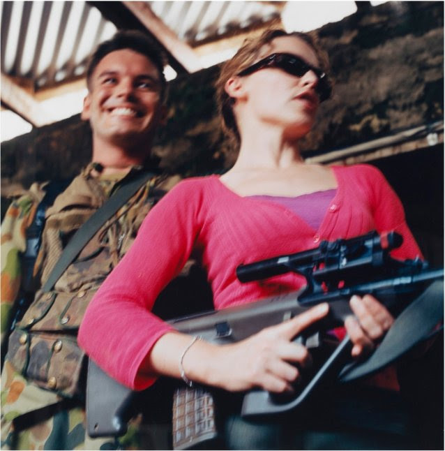 Untitled #88 from Tour of Duty series (Captain Brad Kilpatrick and Kylie Minogue , Balibo, East Timor, 20 December 1999), 1999 by Matthew Sleeth