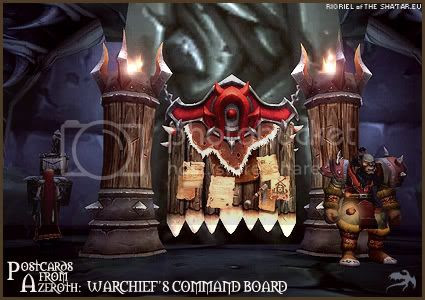 Postcards of Azeroth: Warchief's Command Board, by Rioriel Ail'thera of theshatar.eu