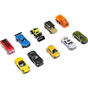 Fast Lane 10-Piece Diecast Vehicle Pack - (Colors/Styles May Vary)
