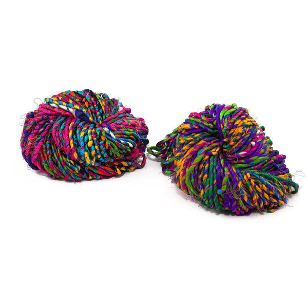 Firecracker Recycled Resolution Silk Yarn