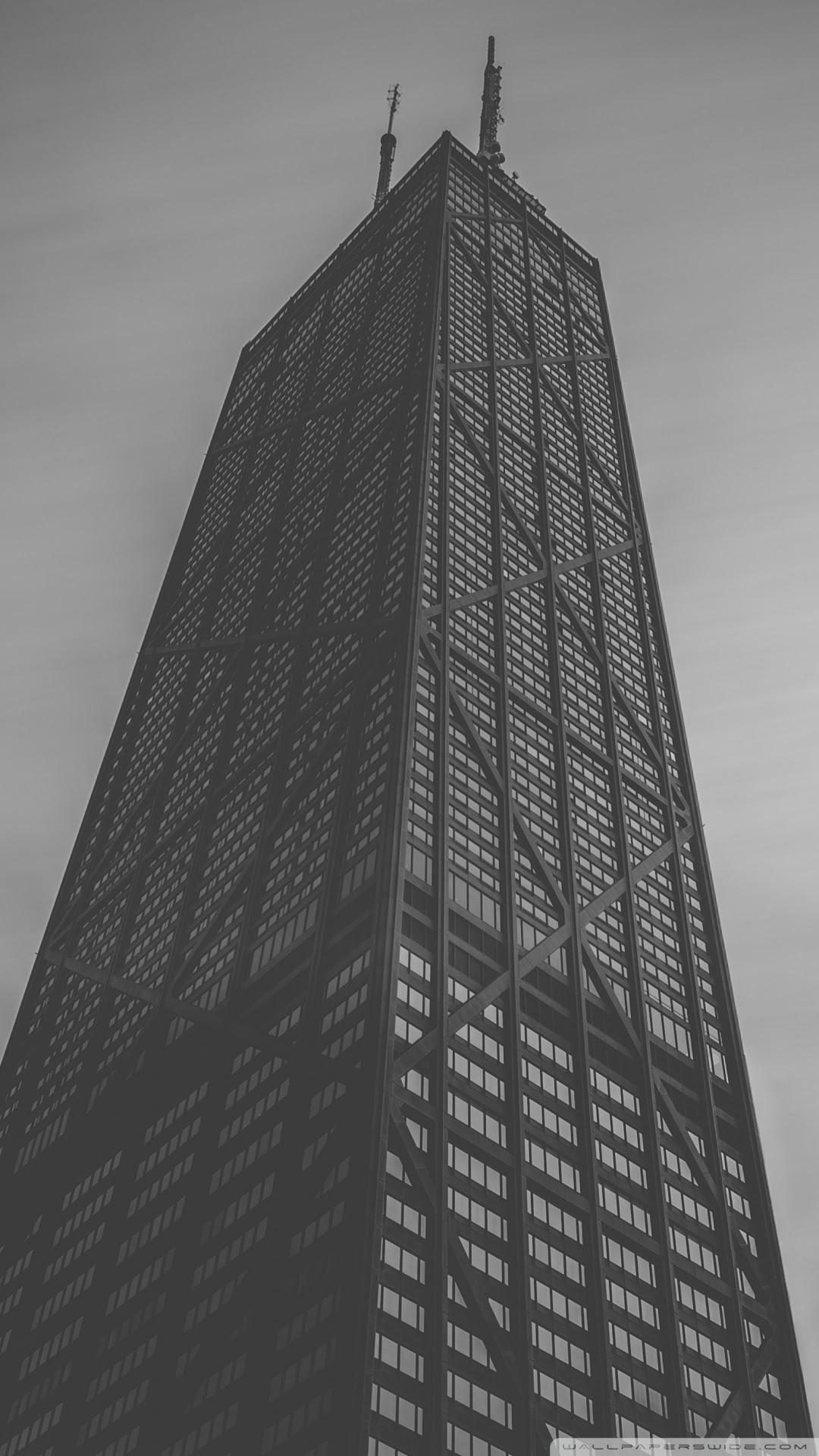 John Hancock Center In Chicago Black And White Ultra Hd Desktop