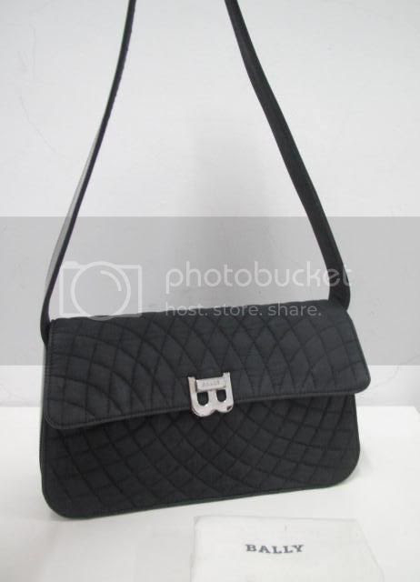 The Bagblogshop Authentic Bally Quilted Canvas Hand Bag