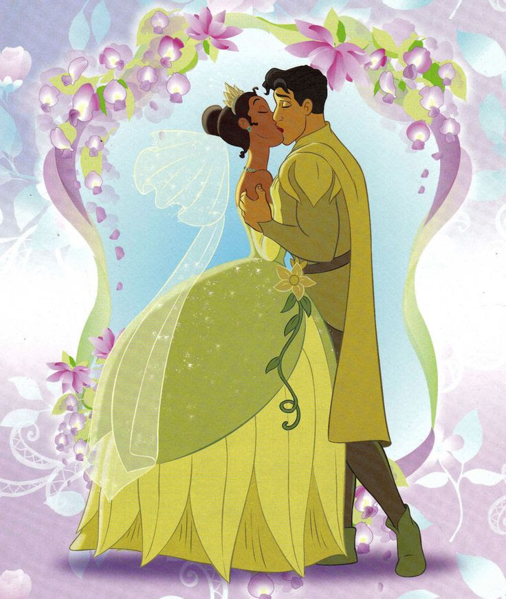 Photo of Tiana & Naveen's kiss  for fans of The Princess and the Frog.