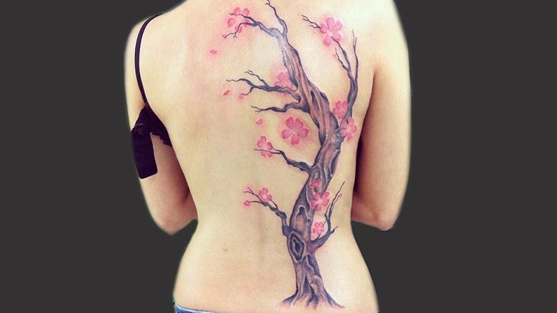 Tatuaje Arbol Cerezo En Su Tinta Estudio
