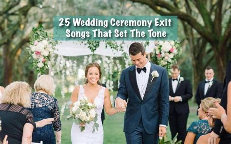 25 Ideas for Wedding Recessional / Exit Songs for Your
