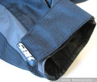 ajuste no punho da jaqueta sbk v6