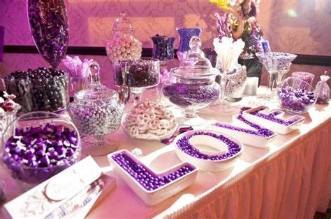 Purple Candy Buffets   Time for the Holidays   Purple in