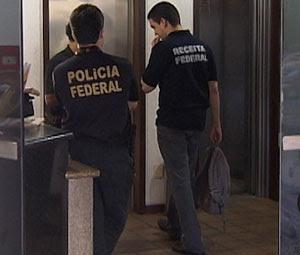Polícia Federal e Receita fazem operação em centro comercial na Avenida Tancredo Neves, em Salvador (Foto: Reprodução/TV Bahia)