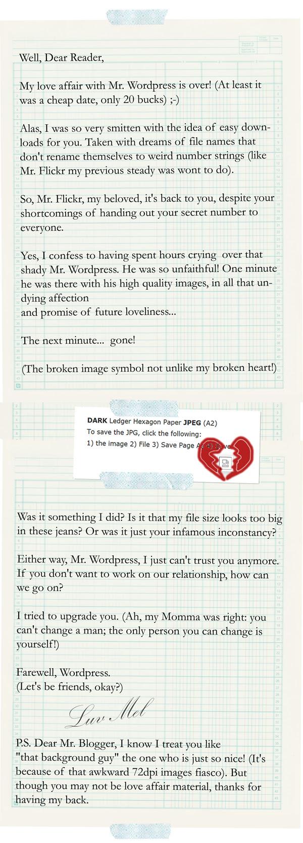 Dear John letter to Wordpress