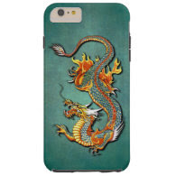Cool Colorful Vintage Fantasy Fire Dragon Tattoo Tough iPhone 6 Plus Case