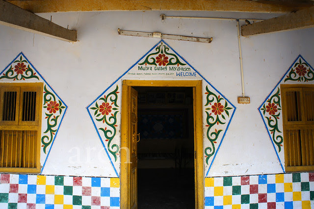 painted entrance...