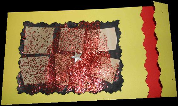 carte de voeux réalisée à partir de carrés et rectangles