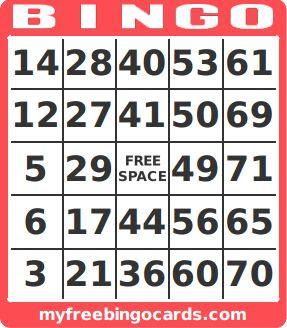 free printable number bingo card generator   Bingo, Free printable ...