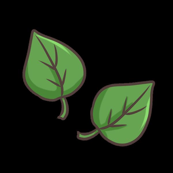 葉っぱのイラスト かわいいフリー素材が無料のイラストレイン