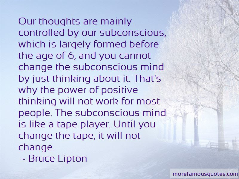 Power Of Subconscious Mind Quotes Top 13 Quotes About Power Of