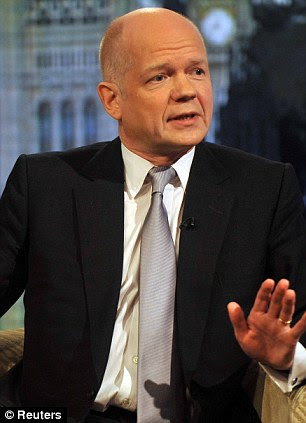 Warning: Foreign Secretary William Hague, speaking on the Andrew Marr show yesterday, told Britions in Greece to prepare to leave if the country goes under