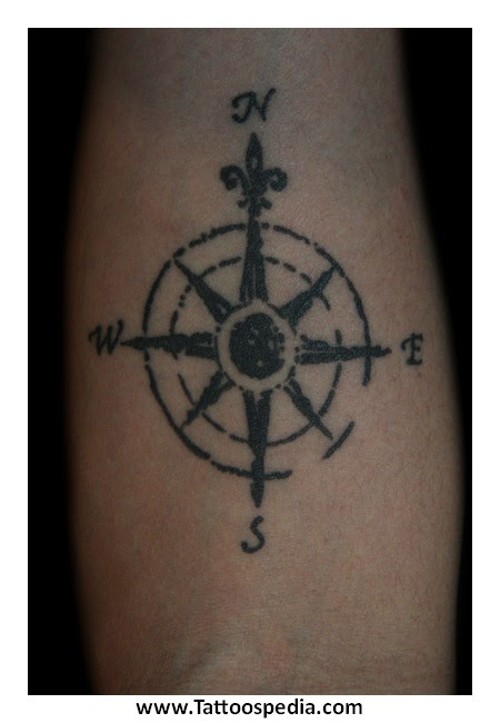 Small Compass Rose Tattoos 8