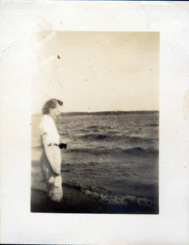 Woman by sea in jodhpurs
