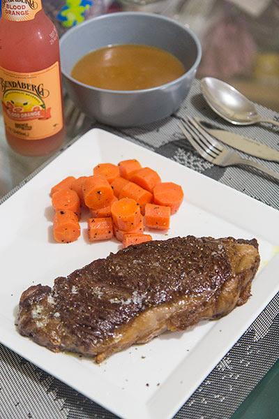 Medium Rare Striploin Frozen Steak