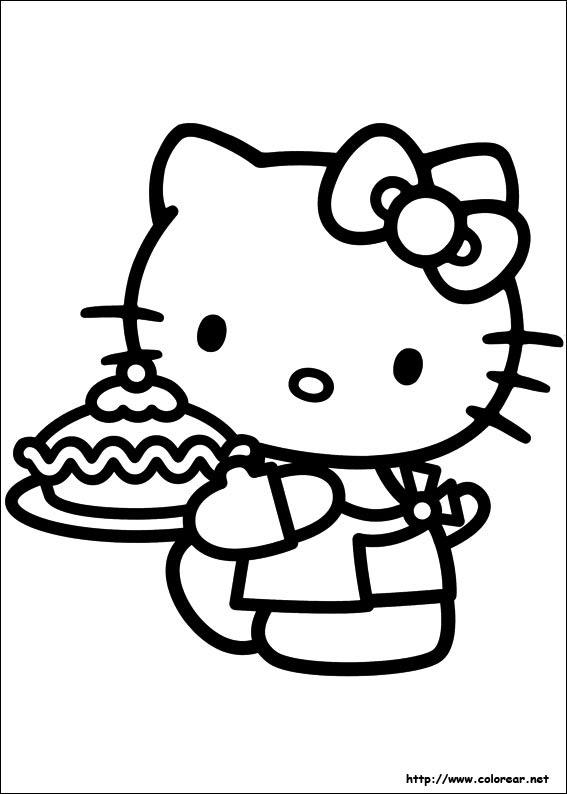 Hello Kitty Boyama Sayfaları çocuklar Axipixde