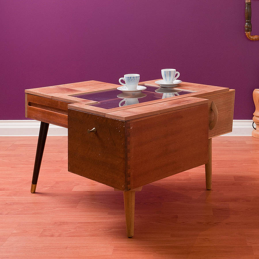 upcycled coffee table with drawers by furniture magpies ...