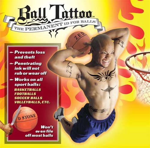 BALL TATTOO - Permant ID for balls