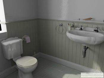 Basit banyo modeli