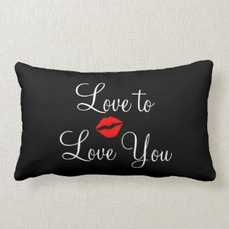 Black Love Valentines Day Throw Pillow