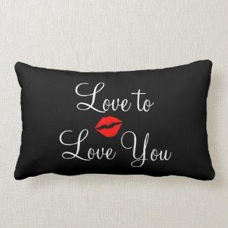 Black Love Valentines Day Throw Pillow