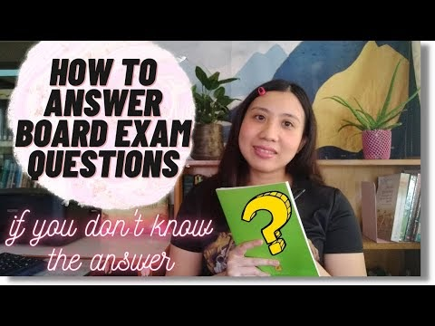 Video: How to answer board exam questions strategies