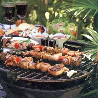 Barbecued Meat Kabobs