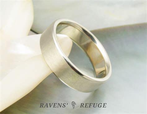 plain men?s wedding band, artisan handmade   Ravens' Refuge